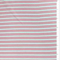 *1 1/8 YD PC--Carnation Stripe Textured Liverpool Knit