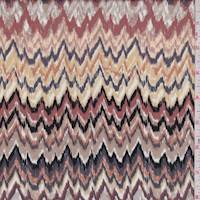 Taupe/Clay Flamestitch Chevron Rayon Challis