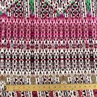 Tan/Ivory Batik Diamond Rayon Challis