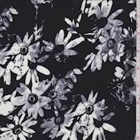 Black Daisy Rayon Challis