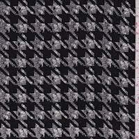 Black/Nickel Houndstooth Rayon Challis