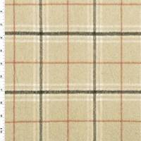 *2 YD PC--Beige/Multi Brushed Plaid Flannel Jacketing