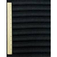 *2 3/4 YD PC--Black Texture Chenille Stripe Batiste