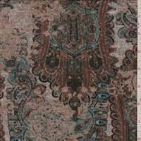 *1 3/8 YD PC--Camel Multi Persian Sweater Knit