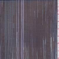 *1 1/8 YD PC--Black/Blue Brush Pinstripe Silk Chiffon