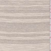 *2 1/2 YD PC--Oatmeal Embroidered Stripe Jersey Knit