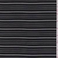 Black Stripe Chiffon