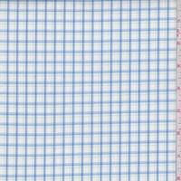 White/Royal/Kelly Check Cotton Shirting
