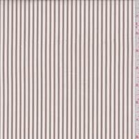 White/Tan Stripe Cotton Shirting