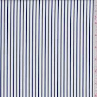 White/Navy/Yellow Stripe Cotton Shirting