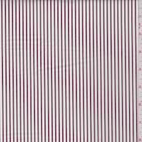 White/Brown Stripe Cotton Shirting