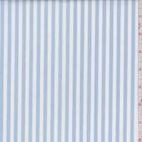 Cloud Blue/White Stripe Cotton Shirting