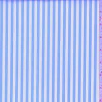 Sky Blue/White Stripe Cotton Shirting