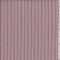 Chocolate/White Stripe Cotton Shirting