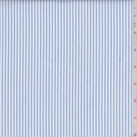 Aster Blue/White Stripe Cotton Shirting