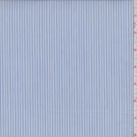 Denim/White Stripe Cotton Shirting