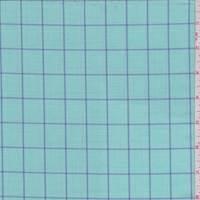 Aqua Green/Royal Check Cotton Shirting