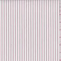 White/Red/Black Stripe Shirting