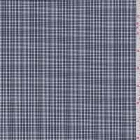 White/Navy Mini Check Oxford Shirting