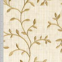 *3 3/8 YD PC--Beige Vine Embroidered Home Decorating Fabric