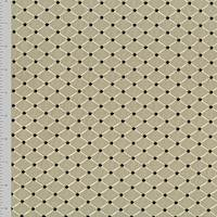 *1 3/8 YD PC--Taupe/Black Diamond Embroidery Home Decorating Fabric