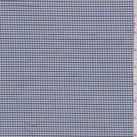 Denim/Charcoal Mini Check Cotton Shirting