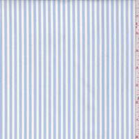 White/Blue Stripe Cotton Shirting