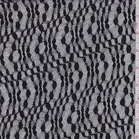 Black Wave Stretch Lace