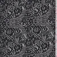 Black Moroccan Stretch Lace