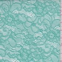 Aquamarine Green Floral Lace