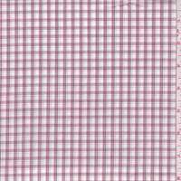 White/Red/Black Check Cotton Shirting