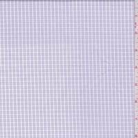 White/Lilac Micro Check Cotton Shirting