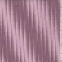 Brick/White Stripe Cotton Shirting