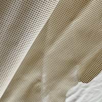 Creamy Beige Laser Cut Leather Hide