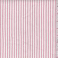 Red/White Stripe Cotton Oxford Shirting