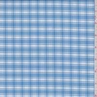 Ocean Blue Plaid Cotton Oxford Shirting