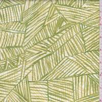 *3 YD PC--Lime/Yellow Block Cotton Poplin