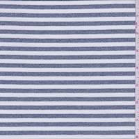 *1 1/8 YD PC--Heather Blue/White Stripe Activewear