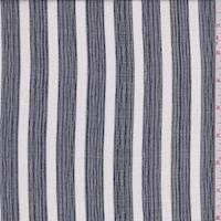 *1 3/4 YD PC--Navy/White Stripe Rayon Gauze