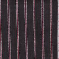*2 5/8 YD PC--Black/Red/White Stripe Denim