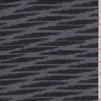 Metallic Black Lightning Stripe Chiffon