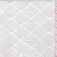 White Deco Diamond Mesh Lace