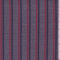 Navy/Red Stripe Pique Jacketing