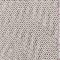 Pale Pearl Zig Zag Crocheted Sweater