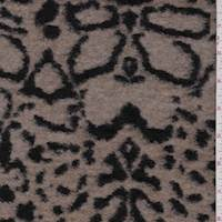 Brown Leopard Boiled Wool Knit