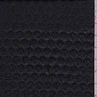 Black Pleather Dot Jacquard