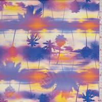 Yellow/Purple Palm Sunset Swimwear