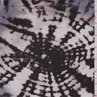*3 YD PC--Ecru/Black/Brown Batik Print Jersey Knit