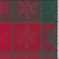 Red/Green Snowflake Cotton Jacquard