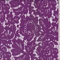 Deep Iris Pink Floral Lace